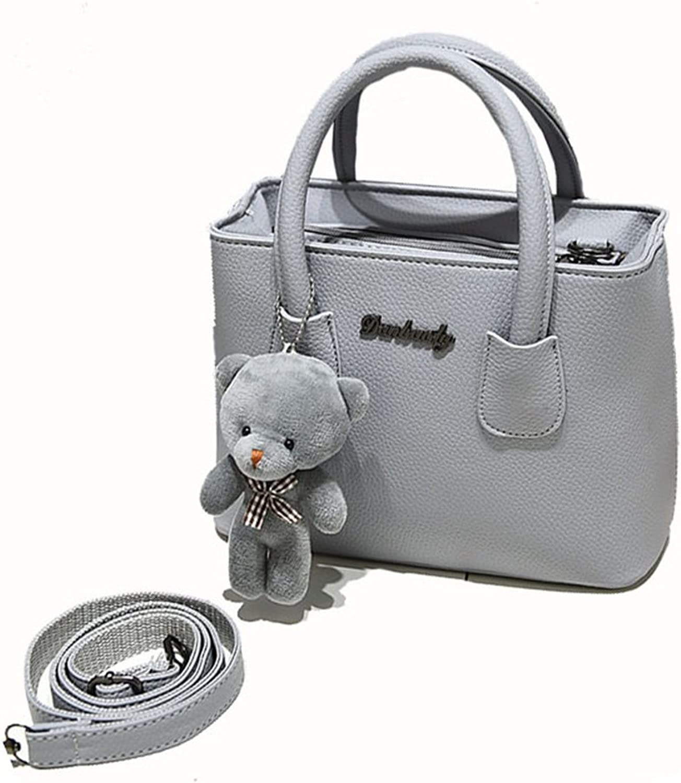 Jxth Damen Klassisches Design Graue Mode einfache Handtasche lässig Wilde Schulter Messenger Bag Schultaschen Geschenke B07J19PGMK  Qualität
