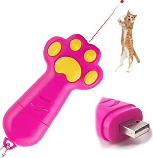 Cat Toy Interactive Laser Pointer Chase Pet Toys, 3 in 1 Function, USB Rechargeable, For Dogs and Cats to Exercise