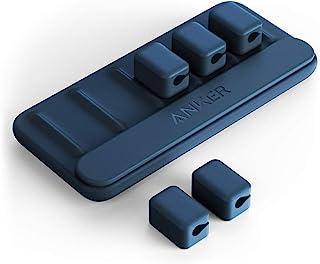 Anker Kabelbeheer, magnetische kabelhouder, desktop-kabelbinders, 5 clips voor Lightning-kabel, USB-C-kabel, micro-kabel, ...