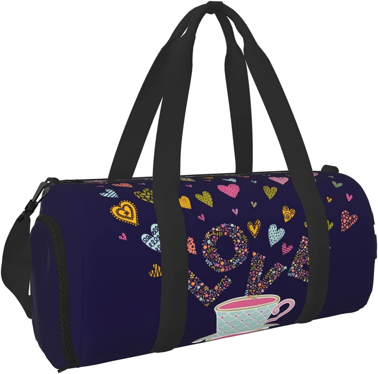 Timeergy Tea Cup Love Clearance SALE Limited time Hearts Gym Carry Travel Bags Bag On Duffel Ranking TOP9
