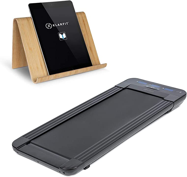 Tapis roulant, porta tablet, tapis roulant e office cardio, 350 w, ultrapiatto klar fit workspace go light B07NNTBVCF