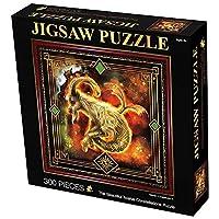 12の星座ジグソーパズル300ピース、カプレケーンプズル、スクエアパズル、難しいパズル、ユニークなエンターテイメントファンタジーパズルおもちゃゲーム