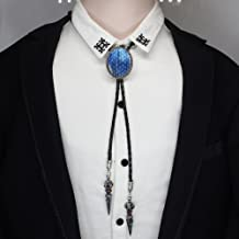 Oval Trendy Blue Dragon Egg Jewelry Necklace Choker (Blue)
