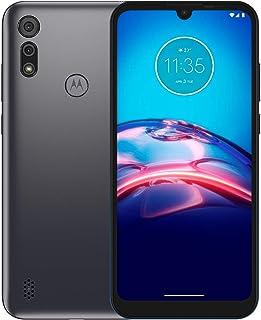 هاتف Motorola E6s ثنائي شريحة الاتصال 32 جيجا بايت + ذاكرة وصول عشوائي 2 جيجا بايت من المصنع الذكي 4G/LTE (رمادي نيزك رماد...