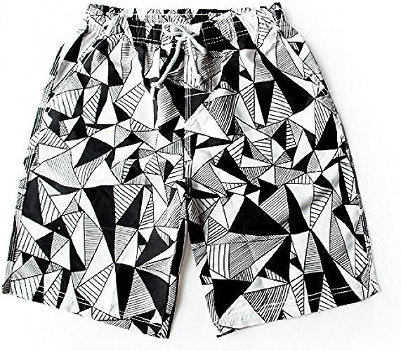 OME&QIUMEI Un Couple D'été Plage Pantalon Homme Quick Dry Loose Seaside Resort Spa Cinq Femmes Maillot De Bain Pantalons courtes