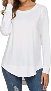 womens long white tops