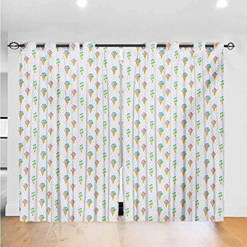 New Mozenou Ice Cream Dark Curtain Summer Ice Dessert Collection with Waffle Cones and Sundae Dairy ...