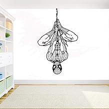 Superhéroe Sticker mural en vinyle Spiderman pour chambre d'enfant Motif animé 93 x 57 cm