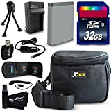 32GB Accessories Kit for Sony Cyber-Shot DSC-HX80, HX90V, RX1 R II, RX100 IV, RX100 III, WX500, WX350, HX400V, H400 Includes: 32GB Memory Card + NP-BX1 / Charger + Padded Camera Case/Bag + More