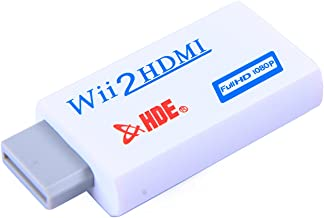 HDE HDMI Converter for Nintendo Wii 1080p HD Video Adapter Adapter Audio/Video Output for HDTVs