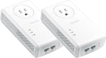 Zyxel AV2000 Powerline Kit, Pass-Thru, 2-Port Gigabit, Brown Box (PLA5456BBKIT)