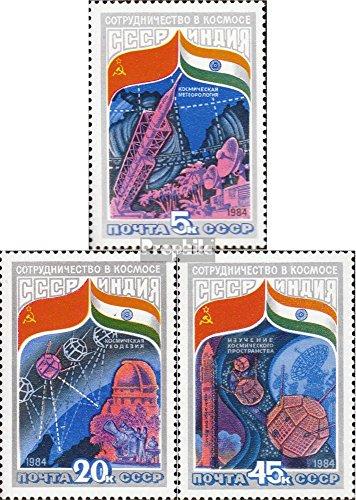 Prophila Collection Sowjetunion 5371-5373 (kompl.Ausg.) 1984 Weltraumforschung UDSSR-Indien (Briefmarken für Sammler) Weltraum