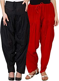 Fablab Women's Cotton Readymade Traditional Patiala Salwar with Drawstring (Nada) Combo set of 2 pcs_FreeSize.