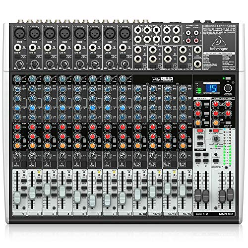 Behringer Xenyx X2222USB Premium 22-Input 2/2-Bus Mixer with USB/Audio Interface,Black. Buy it now for 399.95