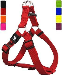 DDOXX Arnés Perro Step-In Nylon, Ajustable | Diferentes Colores & Tamaños | para Perros Pequeño, Mediano y Grande | Accesorios Gato Cachorro | Rojo, XS
