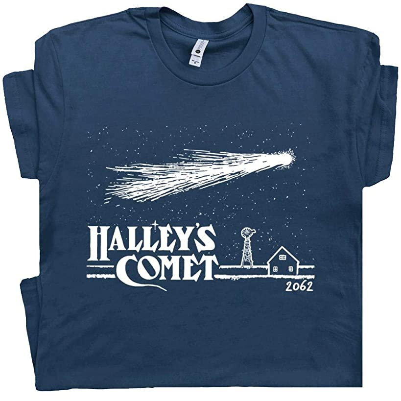 Halley's Comet T Shirt Vintage Asteroids Tee Space Science Invaders Astronomy Astrology Universe Solar System