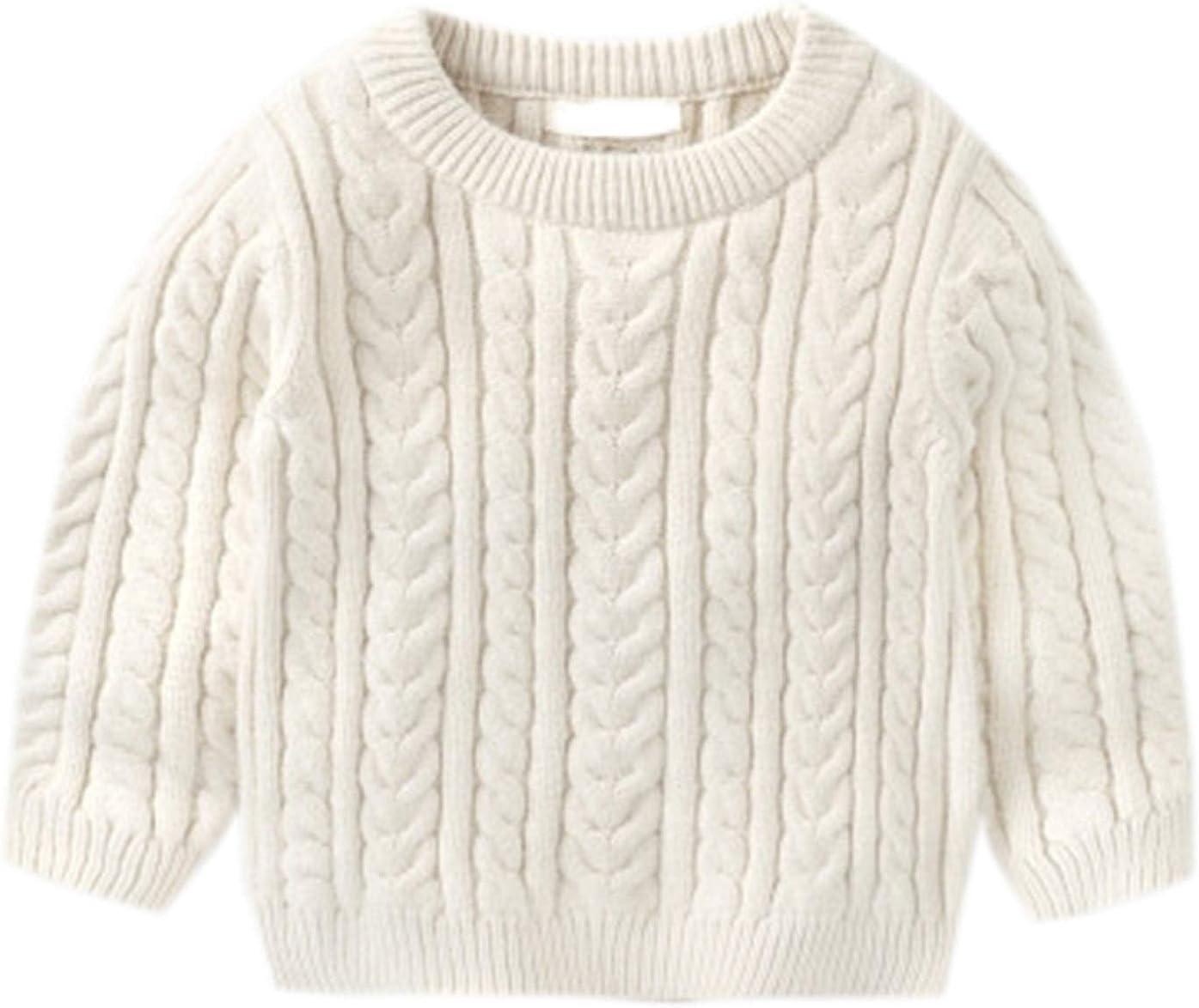 Ameyda Boys' Crewneck Cable Knit Sweater