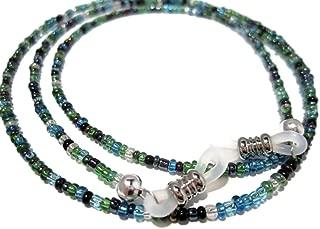 Eyeglass Chain for Women - Peacock Seed Bead Eyeglass Strap - Glasses Holder Around Neck - Sunglasses Lanyard  Beaded