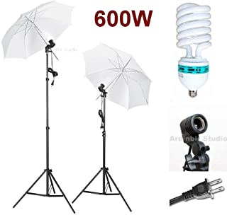 Ardinbir Studio 2400W Photo Umbrella Boom kit with Continuous Light Socket and Stand
