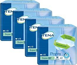 TENA Pants Super Medium - Case Saver 4 Packs of 12