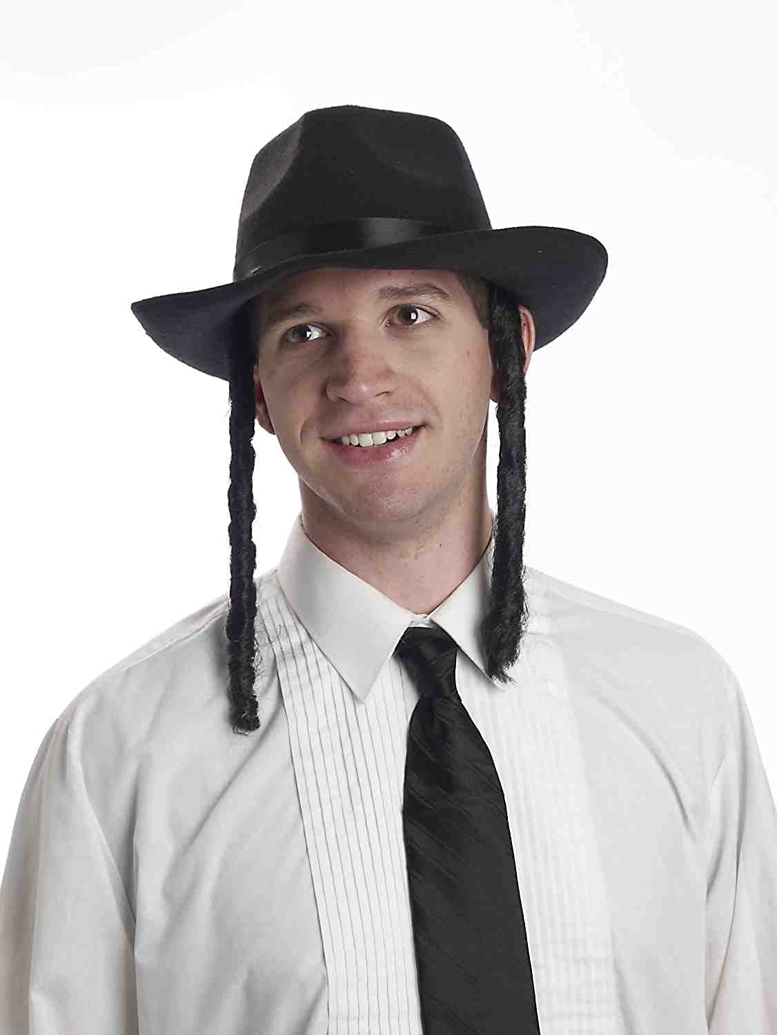 Forum Novelties Men's Outstanding Adult Rabbi Payes with Hat Super sale period limited Accesso Costume