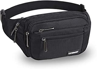 CXWMZY Waist Pack Bag Fanny Pack for Men&Women Hip Bum Bag with Large Capacity Waterproof Adjustable Strap Suitable for Outdoors Workout Traveling Casual Running Hiking Cycling Dog Walking Fishing