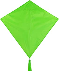 In the Breeze 3297 - Lime 30 Inch Diamond Kite - Solid Green, Fun, Easy Flying Kite