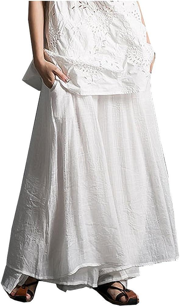 Alternative dealer Kedera Women's Casual Loose Elastic Layers Waist Some reservation Cotton Trouser