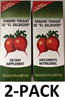"Rabano Yodado De""El Salvador"" 8 盎司 膳食补充剂 2 件装"
