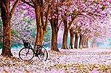 Adultos Puzzle 1000 Piezas Bicicleta de flor de cerezo De Madera Niño Rompecabezas Decoración Para El Hogar Diy Regalo Moderno Festival Juego Intelectual50*70CM