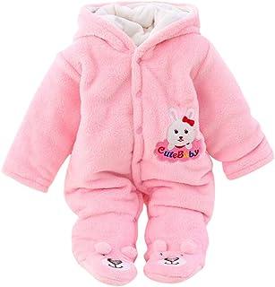 Fossen Kids Mameluco Mono Pijama Bebe Invierno Recien Nacido, Mameluco Abrigo de Niño Niña Impresión de Cartas, Traje de N...