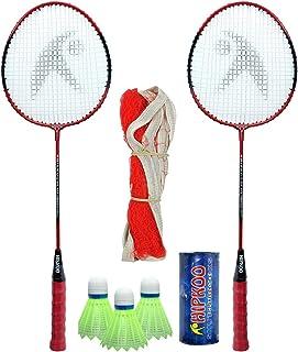 Hipkoo Complete Higher Badminton Combo Set (HR 16) with Badminton Bag (2 Rackets, Net, Shuttlecock Pack of 3)