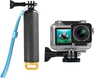 جراب إيجو آر سي مقاوم للماء + مقبض يد عائمة مع مقبض واق تحت الماء غلاف عصا مونوبود لملحقات كاميرا دي جيه اي او اس مو (أصفر)