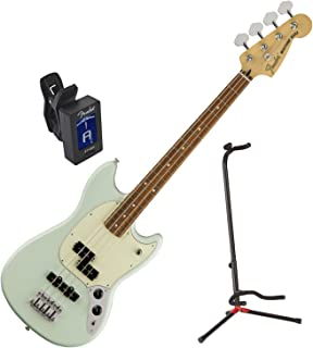 Fender Mustang PJ Bass Pau Ferro Fingerboard (Sonic Blue) w/Stand and Tuner