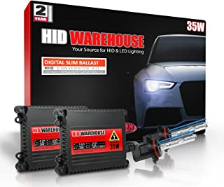 HID-Warehouse 35W DC Xenon HID Lights with Premium Slim Ballast - 9005 6000K - 6K Light Blue - 2 Year Warranty