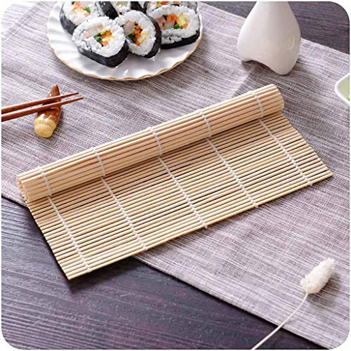 Bamboo Curtain Sushi Rice Rolling Roller Bamboo DIY Maker Sushi Mat Cooking Tool Sushi Making Kitchen Dining Bar Home Decorations for Home DIY Yellow