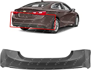 MBI AUTO - Primered, Rear Bumper Cover Replacement for 2016 2017 2018 Chevy Malibu w/Park Assist, Blind Spot, Parallel Park 16-18, GM1100981