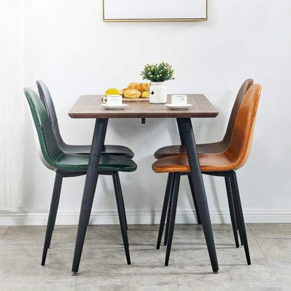 Pieds en Similicuir en métal, chaises de Salle à Manger pour la Maison, Restaurants commerciaux, chaises de Cuisine, chaises de Salon, Chambre à Coucher (Couleur: Noir) 1