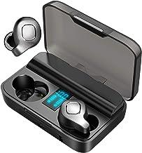 JUJ F8 Auriculares inalámbricos Bluetooth con cancelación de ruido activa con verdadera inalámbrica, ANC auriculares in-ear con estuche de carga digital para correr, conducir, acompañante, etc. (negro)