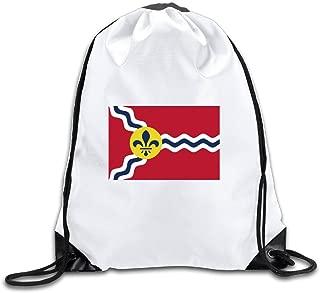 Flag Of St. Louis Missouri Drawstring Backpack Bag Gym Sack