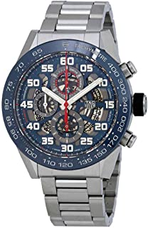Carrera Skeleton Blue Dial Automatic Mens Chronograph Watch CAR2A1K.BA0703
