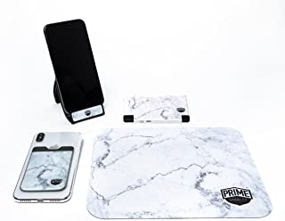 Prime Goods Co. Tech Accessory Bundle - Marble - Includes Power Bank, Phone Wallet, Phone Stand, and Mouse Pad
