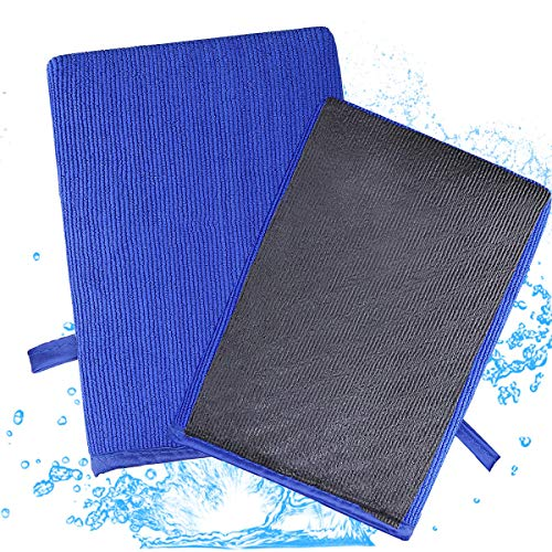 """2 Pack Magic Clay Towel, Microfiber Claying Towel Clay Bar Towel Fine Grade Auto Detailing Clay Towel Surface Pre Clay Towel for Car Care 12"""" x 12"""""""