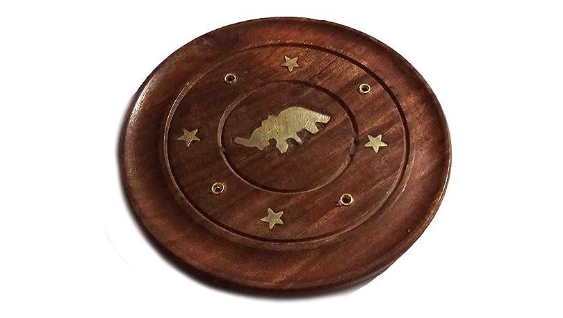 製作中傷投げ捨てるThanks Givingプレゼントに愛する人木製Incense Saucerプレートホルダー象デザイン