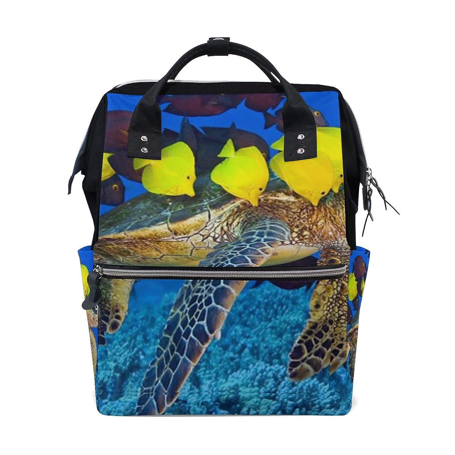 Underwater Sea Turtle Fishes School Backpack Large Capacity Mummy Bags Laptop Handbag Casual Travel Rucksack Satchel For Women Men Adult Teen Children