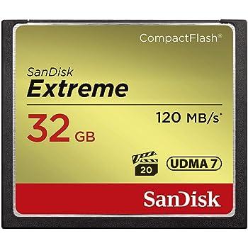 SANDISK ( サンディスク ) 32GB Compact Flash Memory ( 読取速度 最大 120MB 秒 / 書込速度 最大 85MB/秒 ) Extreme SDCFXSB-032G-G46 [ 海外パッケージ ] [並行輸入品]
