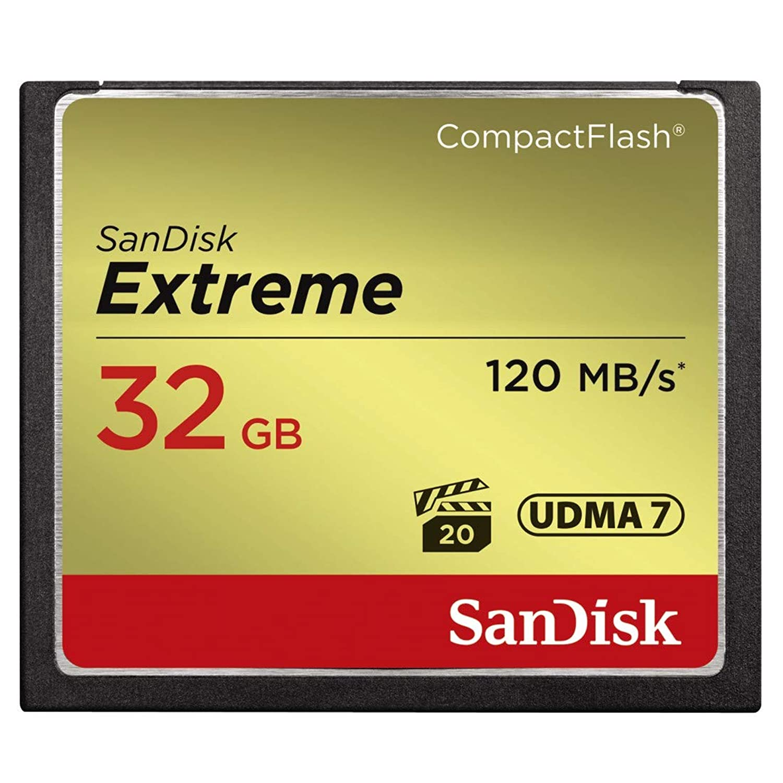 SANDISK ( サンディスク ) 32GB Compact Flash Memory ( 読取速度 最大 120MB 秒 / 書込速度 最大 85MB/秒 ) Extreme SDCFXSB-032G-G46 [ 海外パッケージ ]