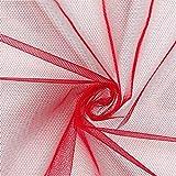 Tüll klassisch Uni – rot — Meterware ab 0,5m — zum