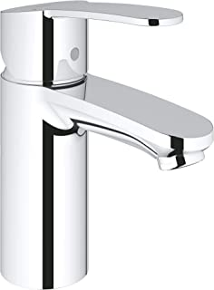GROHE 2304200A Eurostyle Cosmopolitan Single-Handle Single-Hole Bathroom Faucet, 1.2 GPM, Starlight Chrome