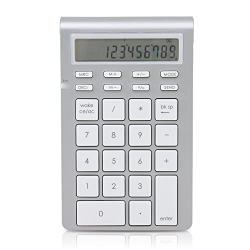 Satechi Aluminum Bluetooth Wireless 26-Key Smart Keypad and Calculator Keyboard Extension - Compatible with